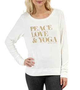 Spiritual Gangster Peace Love Yoga Savasana White Pullover
