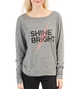 Spiritual Gangster Shine Bright Vinyasa Tri Grey Pullover