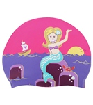 Sporti Mermaid Silicone Swim Cap Jr.