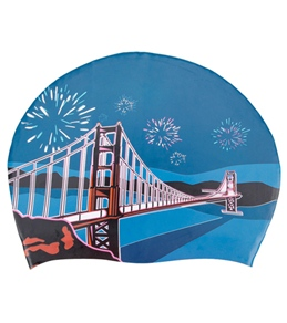 Sporti Golden Gate Silicone Swim Cap