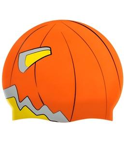 Sporti Scary Pumpkin Silicone Swim Cap