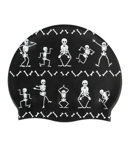 Sporti Funny Bones Silicone Swim Cap Jr