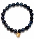 Satya Jewelry Blue Quartzite Moon Bracelet