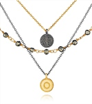 satya-jewelry-gunmetal-and-gold-pyrite-celestial-great-heights-triple-strand-necklace
