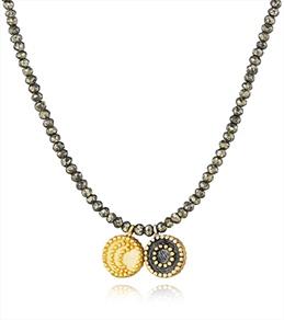 Satya Jewelry Pyrite Celestial Galaxy Necklace