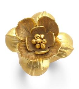 Satya Jewelry Gold Heart of Lotus Ring