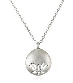 Satya Jewelry Open Lotus Eyelet Necklace