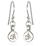 satya-jewelry-sterling-silver-mini-om-disc-earrings