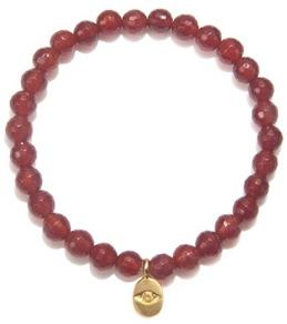 Satya Jewelry Carnelian Eye Stretch Stretch Bracelet