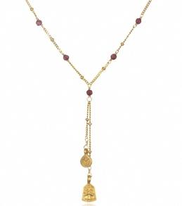 Satya Jewelry Garnet Pathways Lariat Necklace