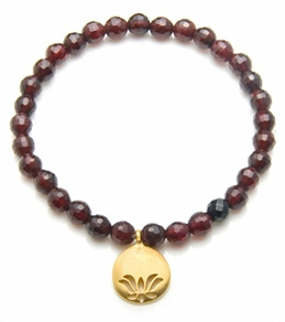 Satya Jewelry Garnet Lotus Bracelet