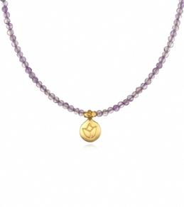 Satya Jewelry Amethyst Lotus Necklace