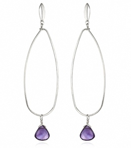 Satya Jewelry Amethyst Buddha's Eye Earrings