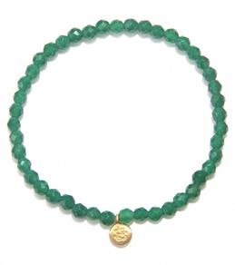 Satya Jewelry Green Onyx Ganesha Bracelet