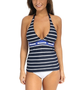 Nautica Signature Stripes Tankini Top