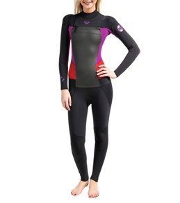 Roxy Women's 3/2MM Syncro Chest Zip GBS Fullsuit