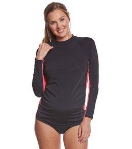EQ Swimwear Black Rose Maternity Rashguard
