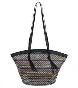 Roxy Front Row Straw Tote