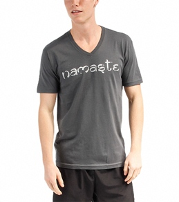Om Shanti Clothing Men's Namaste V Neck Tee Shirt