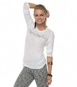 Om Shanti Clothing Women's Namaste / Wings Crew Neck Long Sleeve Tee Shirt
