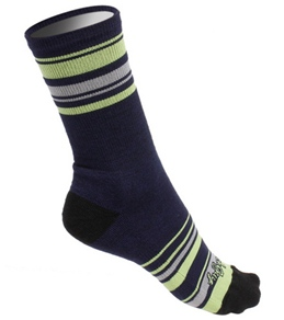 "Sockguy Lime Stripes 6"" Wool Socks"