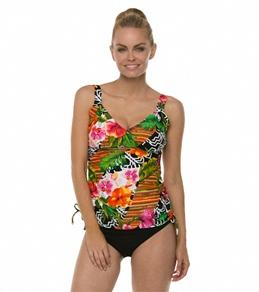 Maxine Balinese Dream Side Shirred Underwire Tankini Top