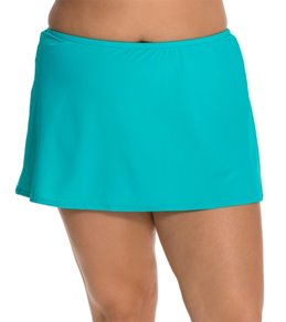 Sunsets Plus Size Tropical Teal Skirted Bottom