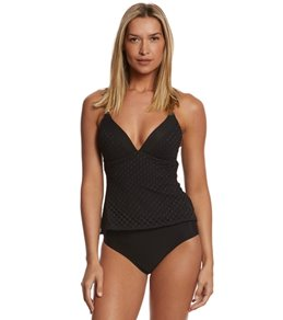 Sunsets Nautical Net Black Molded Cup Tankini Top