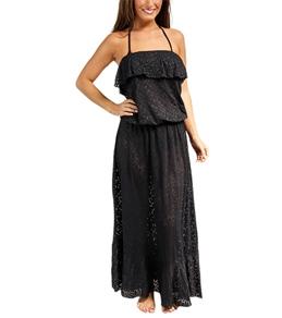 Sunsets Coastal Crochet Black Boardwalk Maxi Dress