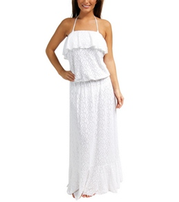 Sunsets Coastal Crochet White Boardwalk Maxi Dress