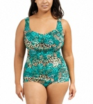 maxine-plus-size-coral-reef-shirred-front-girl-leg-one-piece-swimsuit