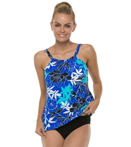 Penbrooke Exotic Journey Mastectomy Hi Neck Tankini Top