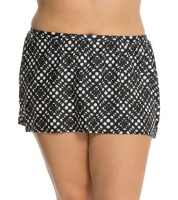 Delta Burke Plus Size Peek a Boo Skirted Bottom