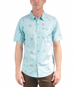 Quiksilver Men's Tiki Time S/S Shirt