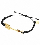 Pura Vida Gold Arrow Black Bracelet