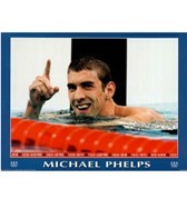 Michael Phelps World Record Olympics Mini Poster
