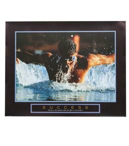 Swimmer Success Art Print Poster