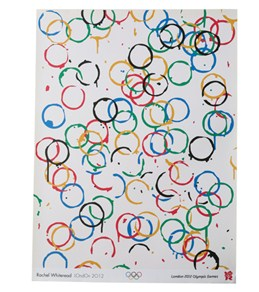 2012 Olympic Rings Poster by Rachel Whiteread