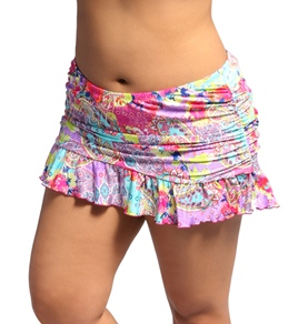 Kenneth Cole Modern Gypsy Plus Size Rouched Skirted Bottom