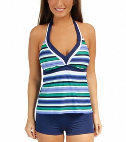 South Point Horizon Stripe Amped Up Halterkini Top