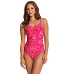 Reebok Fitness Shannon Pink Print One Piece