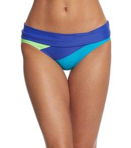 Reebok Fitness Jayme Colorblock Foldover Waist Bottom