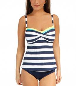 Beach House Key West Stripe Twist Bra Tankini Top