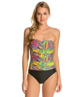 Ceeb Mardi Gras Bandeau One Piece Swimsuit