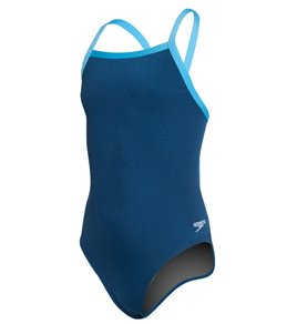 Youth Solid Endurance + Flyback Training Swimsuit