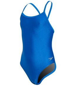 Speedo PowerFLEX Solid Flyback Youth Swimsuit