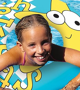 "Poolmaster Aqua Fun 24"" Print Swim Ring"