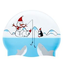 Sporti Winter Fun Silicone Swim Cap Jr.
