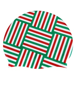Sporti Candy Pattern Silicone Swim Cap