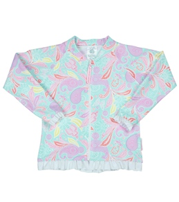 Sun Emporium Girls' Front Zip L/S Rashguard Jacket with Frill (4-8)